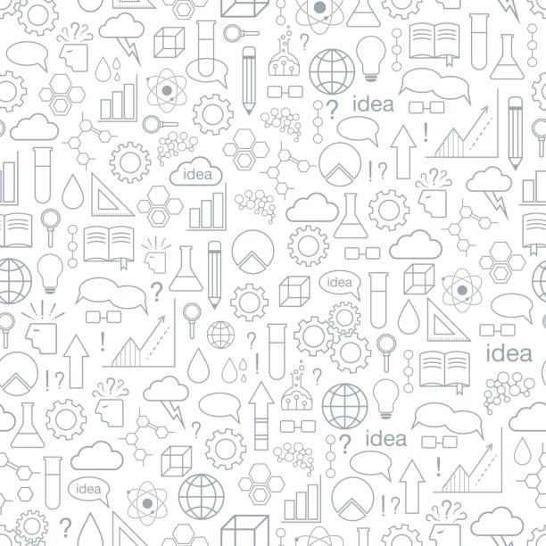 ilustraciones, imágenes clip art, dibujos animados e iconos de stock de inspiración e idea. de patrones sin fisuras. - fondos escolares