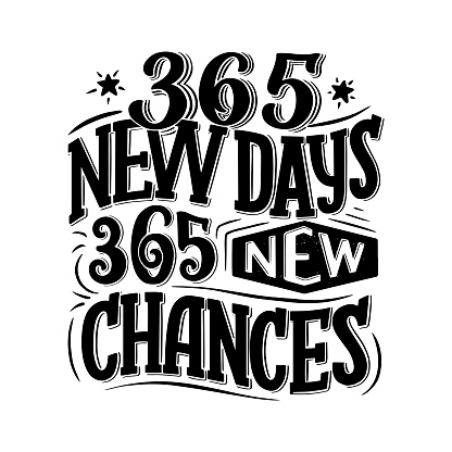 Inspirational funny quote about new days. Hand drawn vintage illustration with lettering and decoration elements. Drawing for prints on t-shirts and bags, stationary or poster.