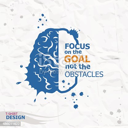 istock Inspirational motivational quote. Focus on the goal not the obst 486011622