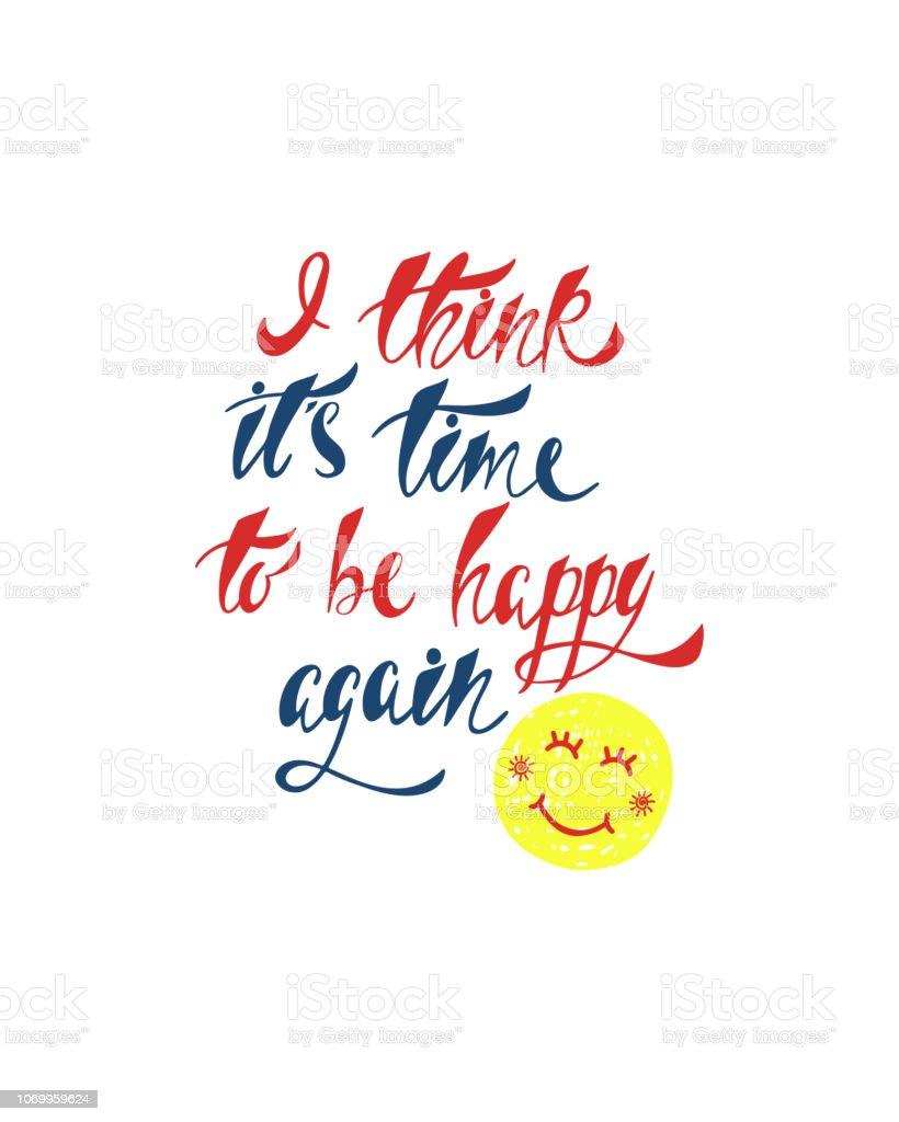 Ilustración De Cita Inspiradora Sobre La Felicidad Frase De