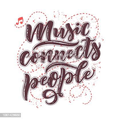 ᐈ Imagen De Inspiracional Sobre Música Mano Dibuja La