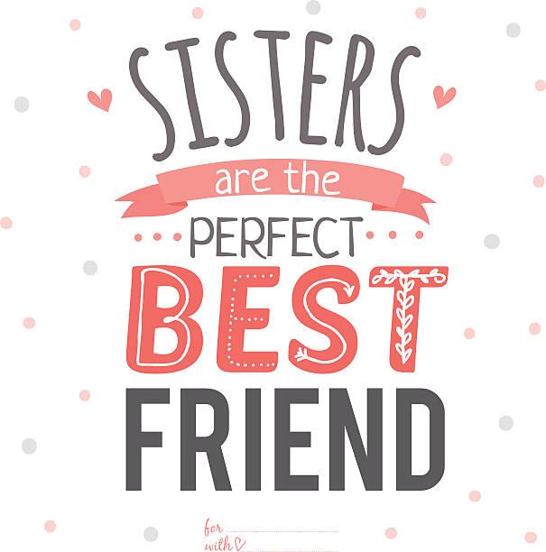 ilustrações, clipart, desenhos animados e ícones de romântico e inspiração tipográfica cartão de amor com wish - irmã