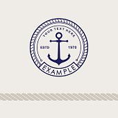 Inspirational themplate of Nautical Style symbol, Emblem Designs. Vintage sea label