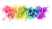 Inspirational watercolored background