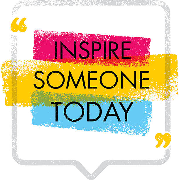 Inspire Someone Today. Motivation Quote Concept Inspiring Creative Motivation Quote. Vector Typography Banner Design Concept On Grunge Rough Background With Arrows inspirational quotes stock illustrations