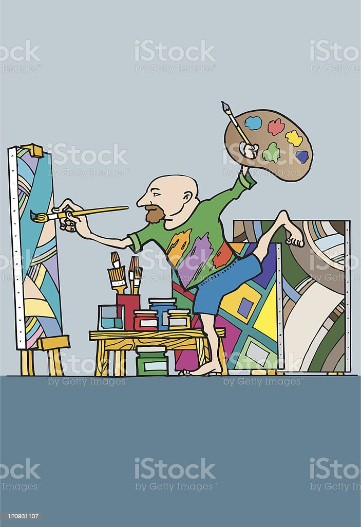 Inspired Painter royalty-free inspired painter stock vector art & more images of activity