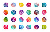 Instagram highlights stories covers vector template. Set of round icons for social media stories. Vector illustrations with hand drawn
