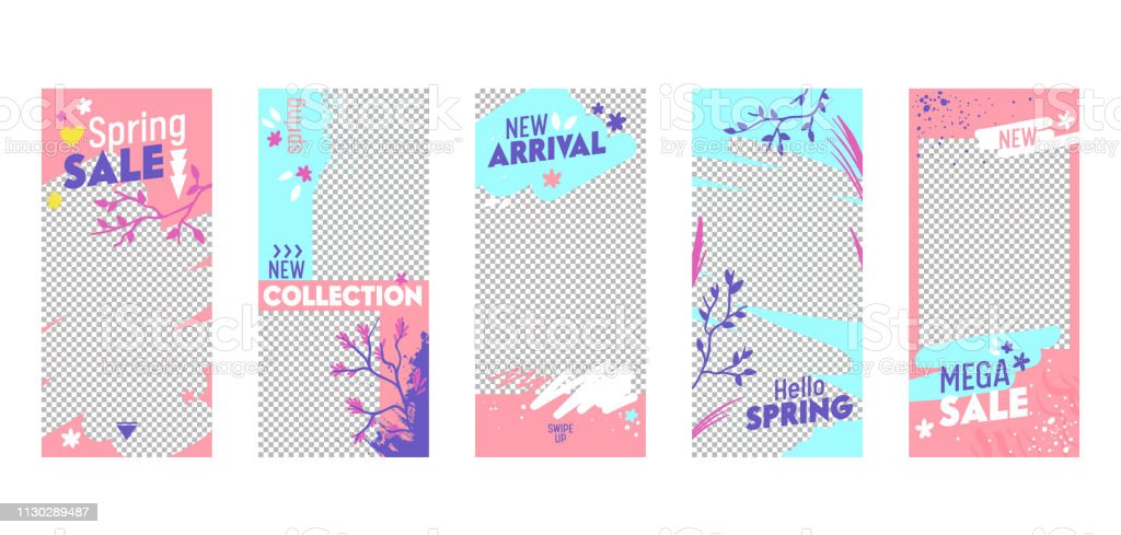 Instagram Story Template Mega Spring Sale Mobile App Page