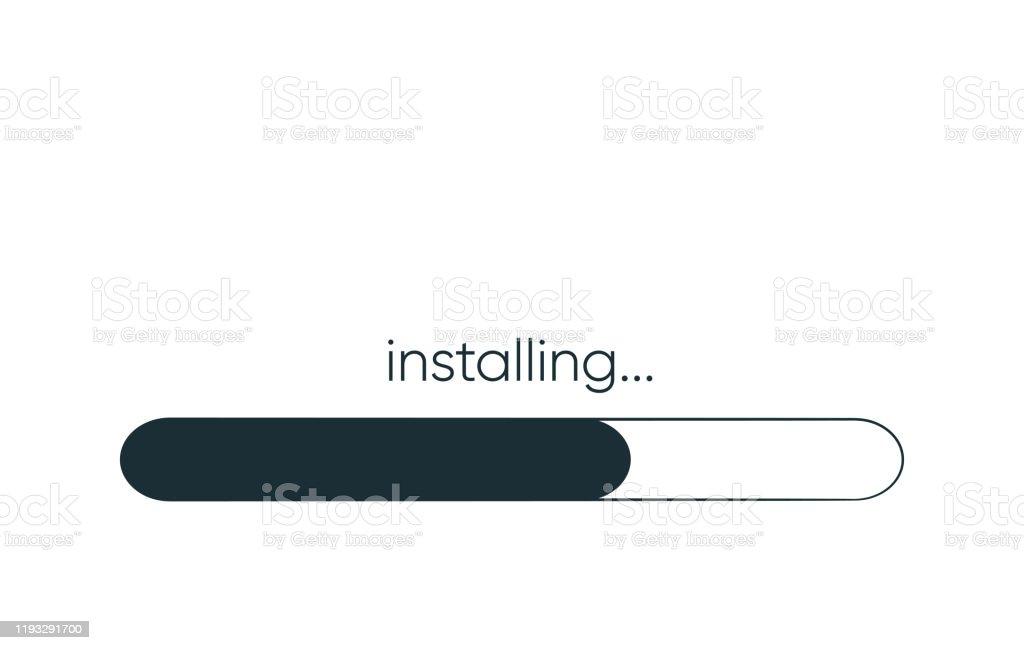 Installation Dune Application Ou Dun Logiciel Concept De Licône De  Progression Dapplication De Mise À Niveau Pour La Conception Graphique Et  Web Vecteurs libres de droits et plus d'images vectorielles de Abstrait -