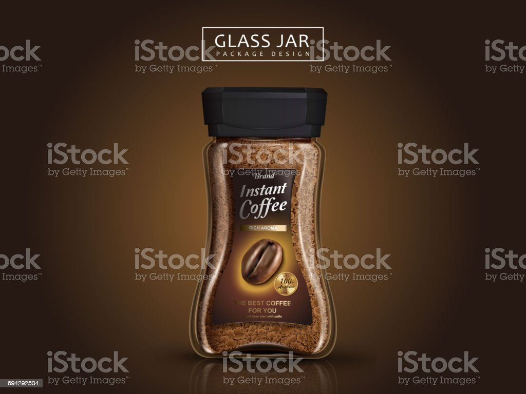 instant coffee package vector art illustration