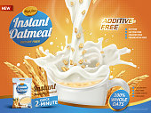 instant oatmeal ad