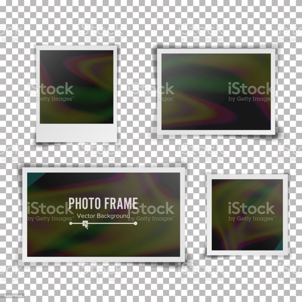 Sofortbildframevektor Leere Vintage Photo Frame Mockup Isoliert Auf ...