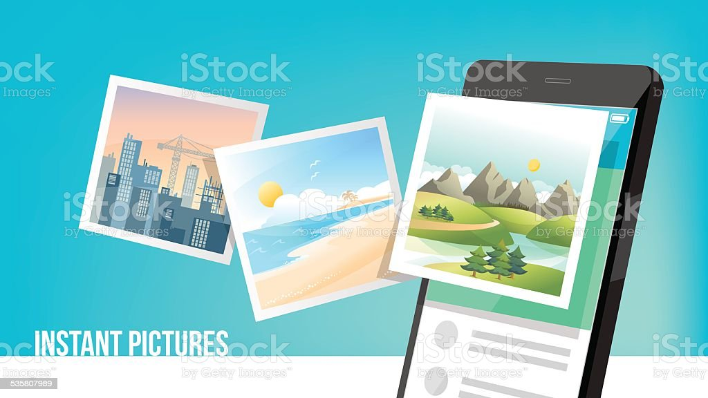Instant pictures vector art illustration