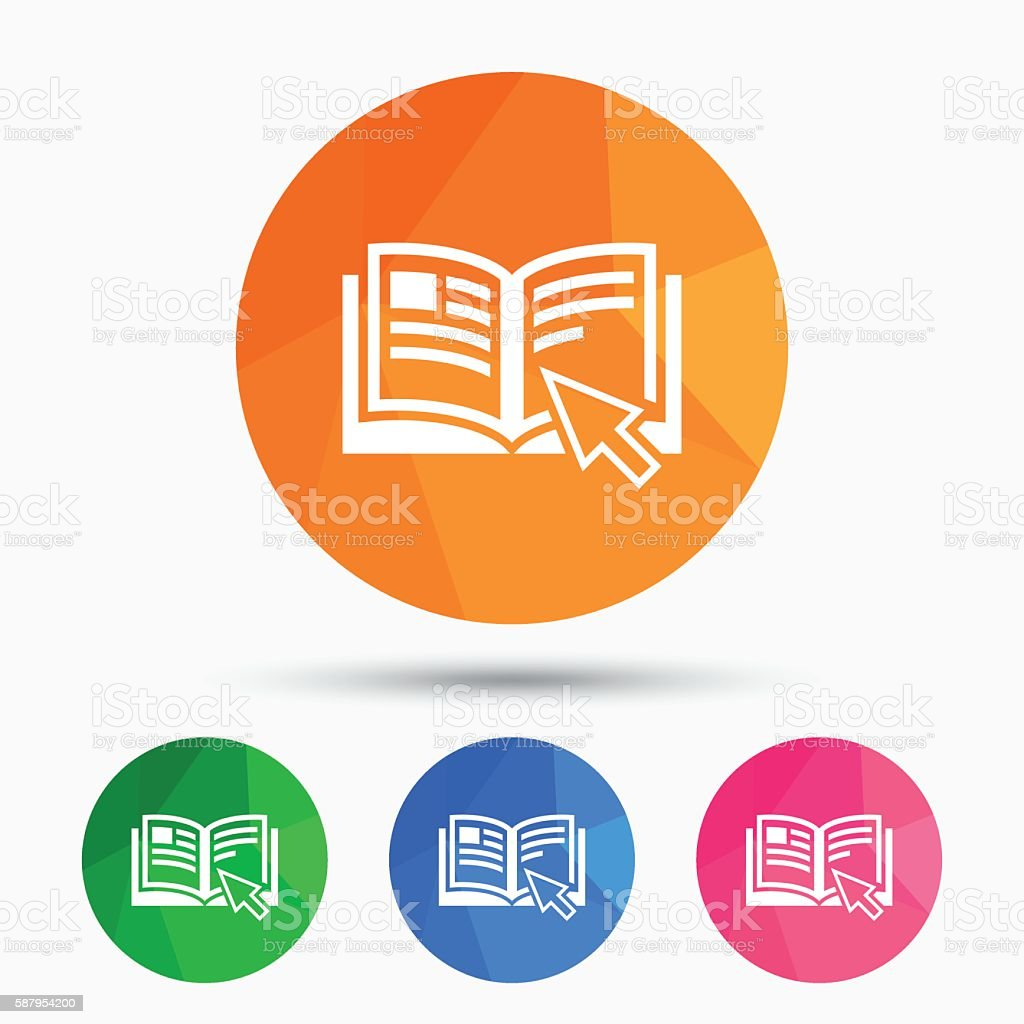 Instruction sign icon. Manual book symbol. vector art illustration