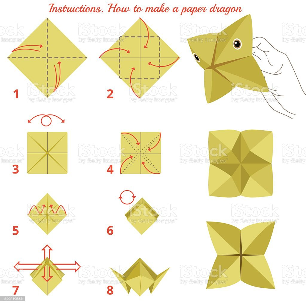 Instructions how to make paper bird origami game stock vector art instructions how to make paper bird origami game royalty free instructions how to make jeuxipadfo Images