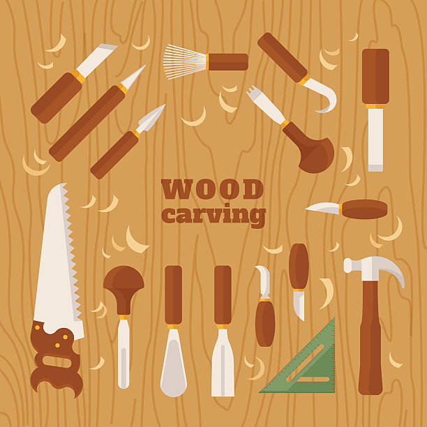 Royalty free wood shavings clip art vector images