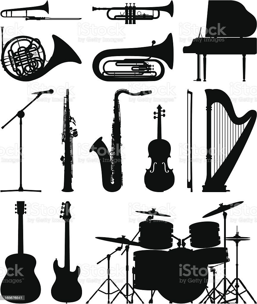Instruments vector art illustration