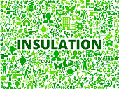 Insulation Environmental Conservation Vector Icon Pattern