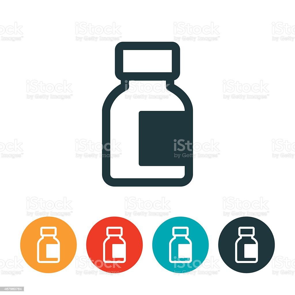Insulin Bottle Icon vector art illustration