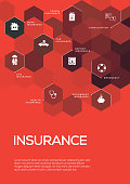 Insurance. Brochure Template Layout, Cover Design