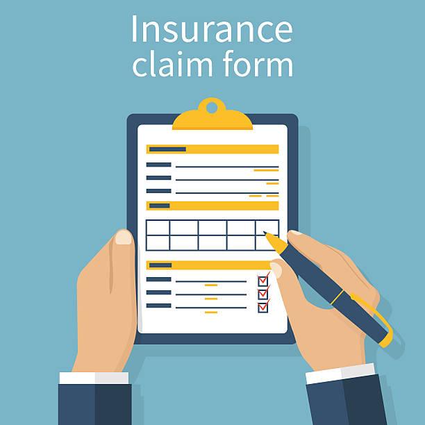 ilustraciones, imágenes clip art, dibujos animados e iconos de stock de seguros formulario de reclamo - parte del cuerpo humano