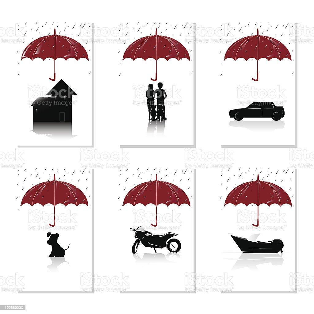 Insurance concept vector art illustration