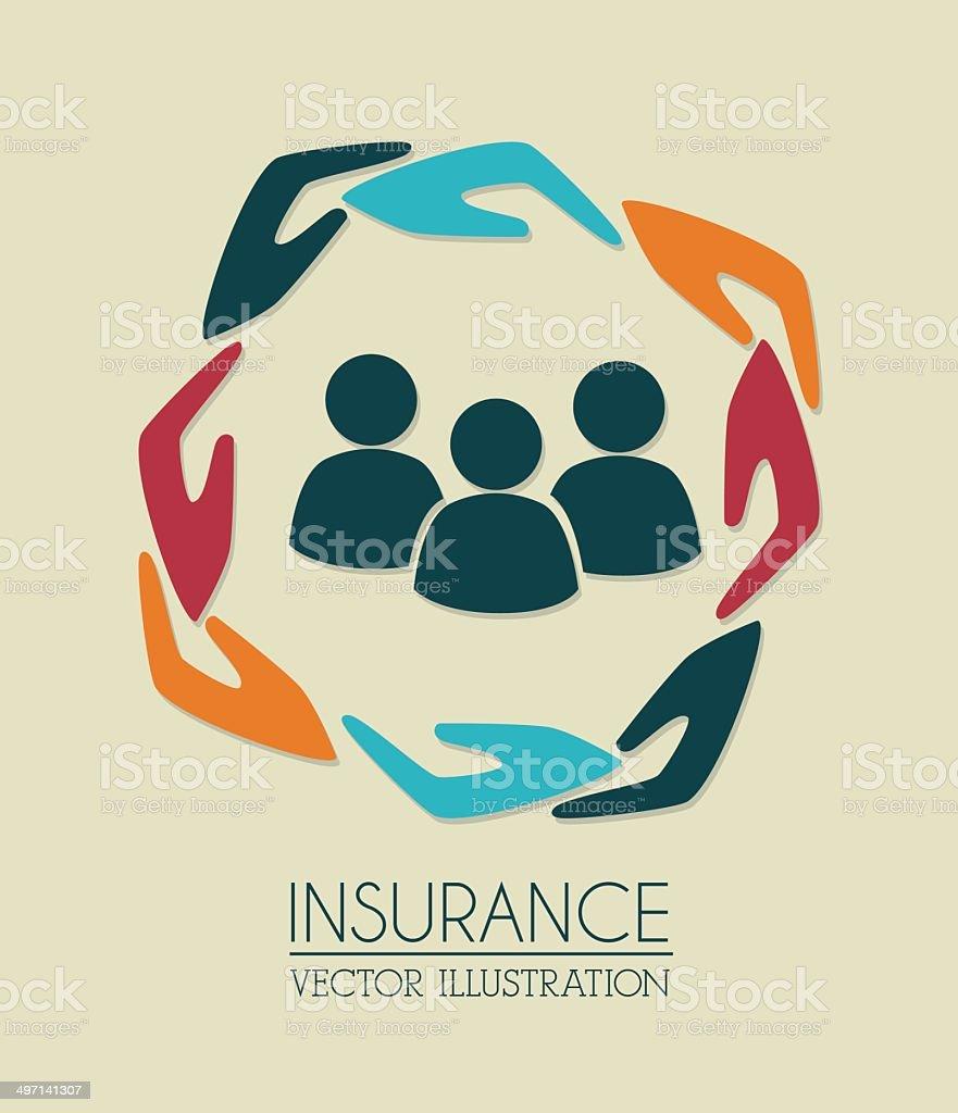 insurance design vector art illustration