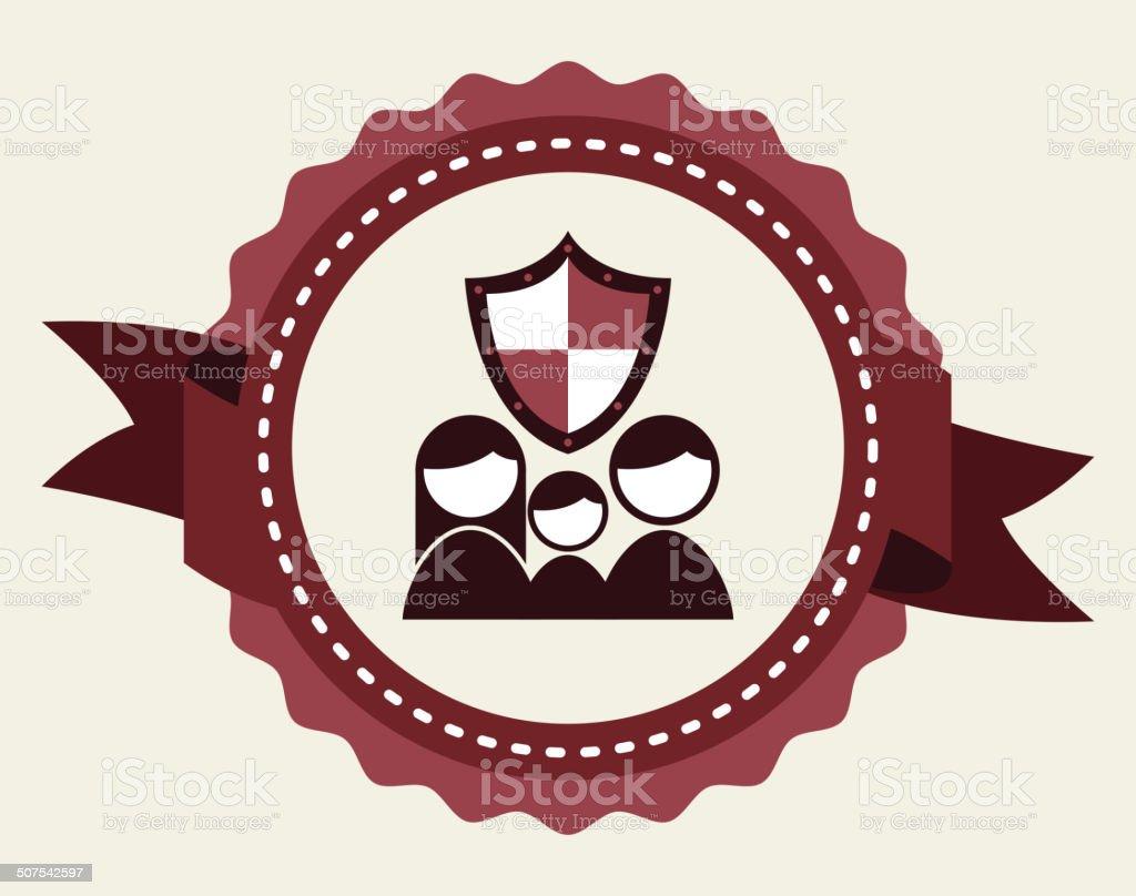 design de seguro - ilustração de arte em vetor