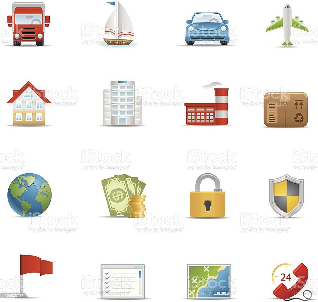 Insurance Icon Set | Optima Series royalty-free stock vector art