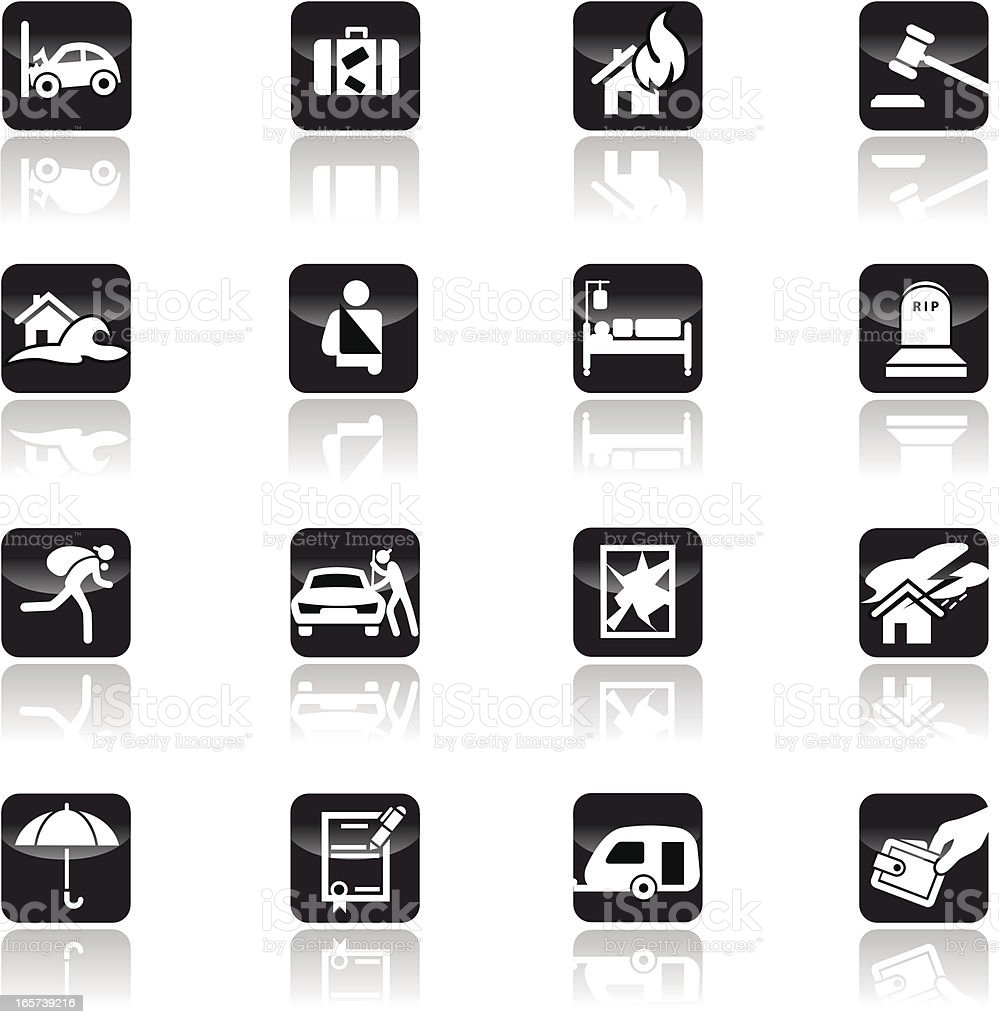 Insurance icon set royalty-free stock vector art