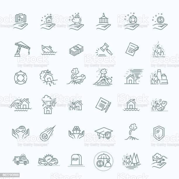 Insurance icon thin line set support services design line flat design vector id862290888?b=1&k=6&m=862290888&s=612x612&h=rutjtimfcyyx2z3gv9h75hh4wg5jfetwpie9qw3ywo8=