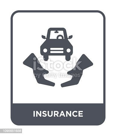 insurance icon vector on white background, insurance trendy filled icons from Digital economy collection