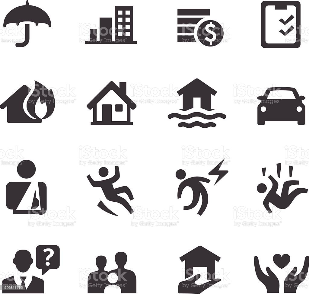 Insurance Icons - Acme Series - Royalty-free Afbeelding vectorkunst