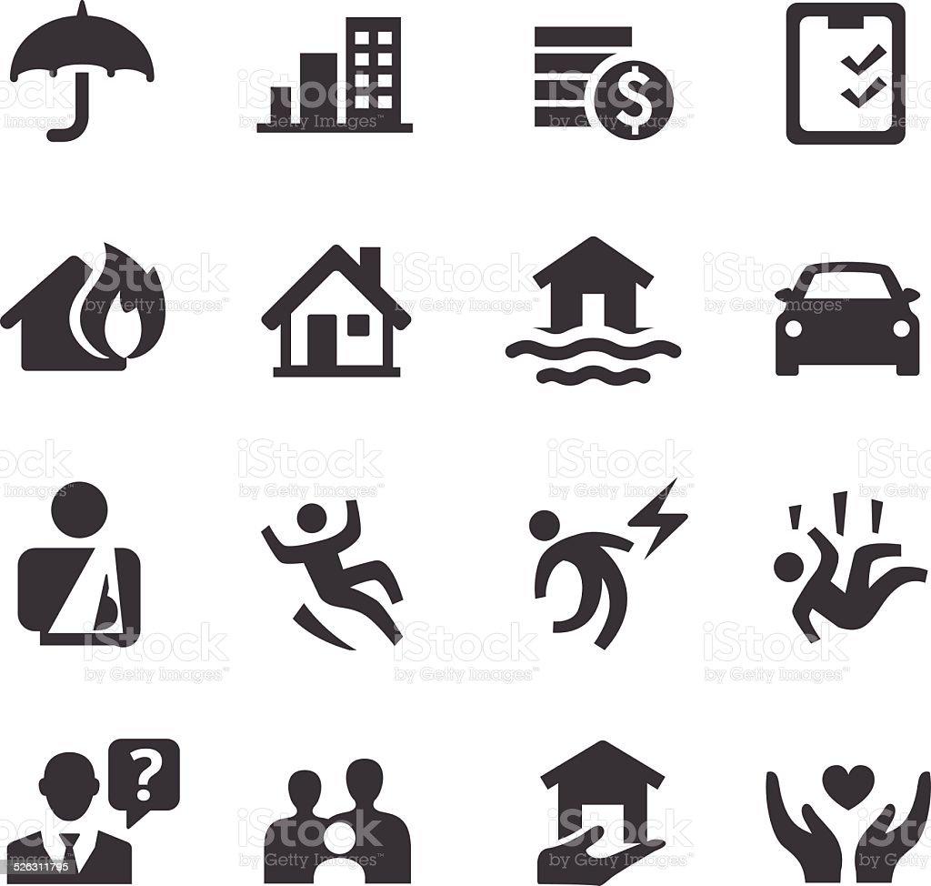 Assurance icônes-Série Acme - Illustration vectorielle