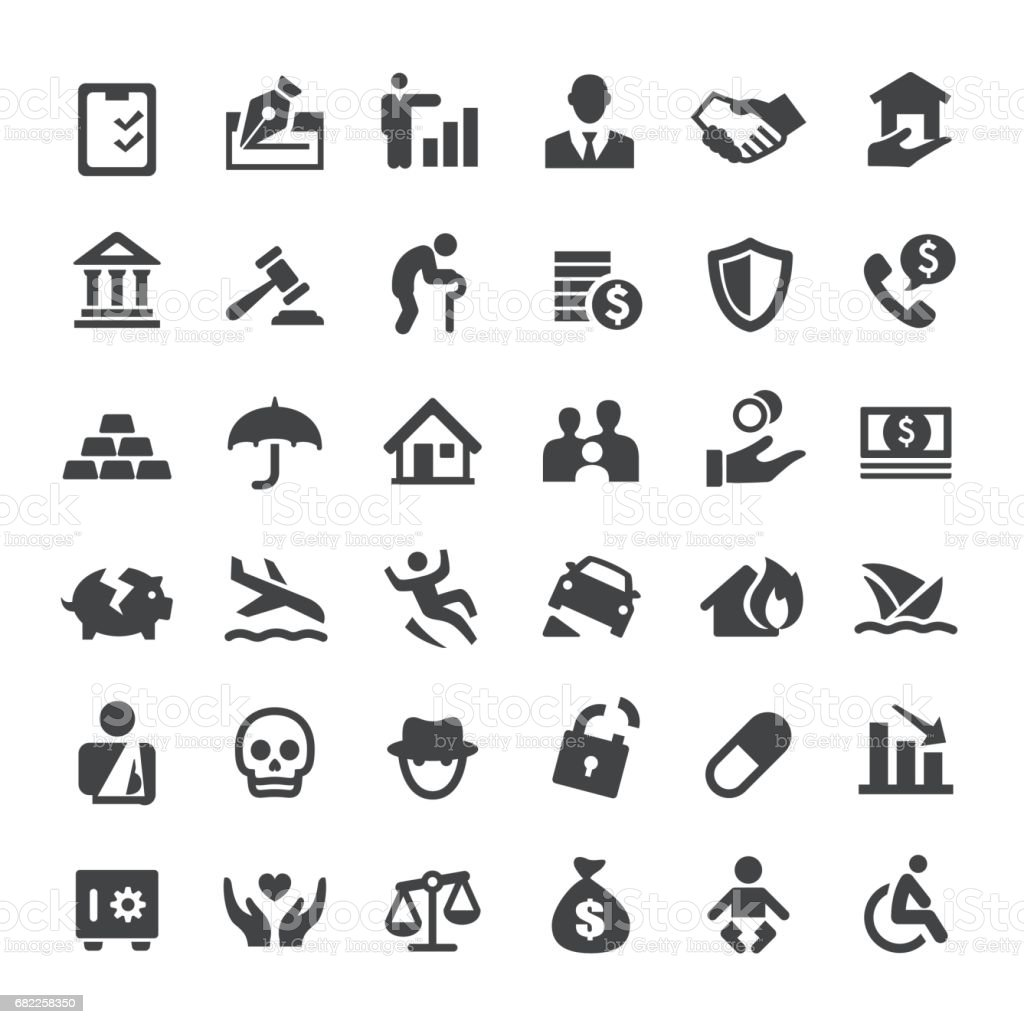 Insurance Icons - Big Series vector art illustration