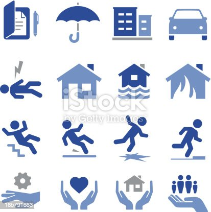 Insurance icon set. Professional icons for your print project or Web site. See more in this series.