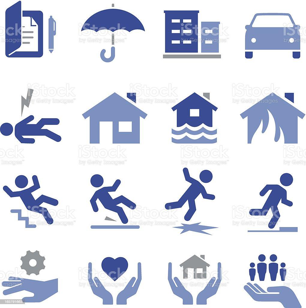 Icônes d'assurance-Pro Series - Illustration vectorielle
