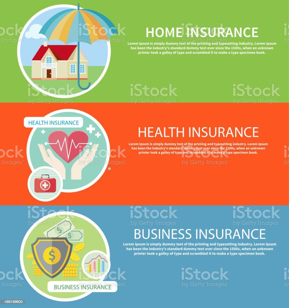 Ensemble d'icônes d'assurance - Illustration vectorielle