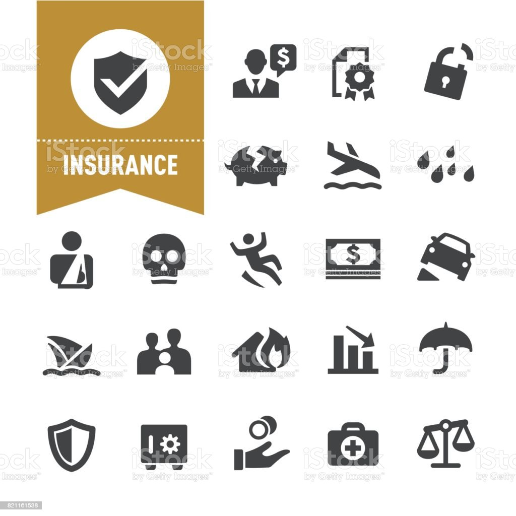Insurance Icons - Special Series vector art illustration