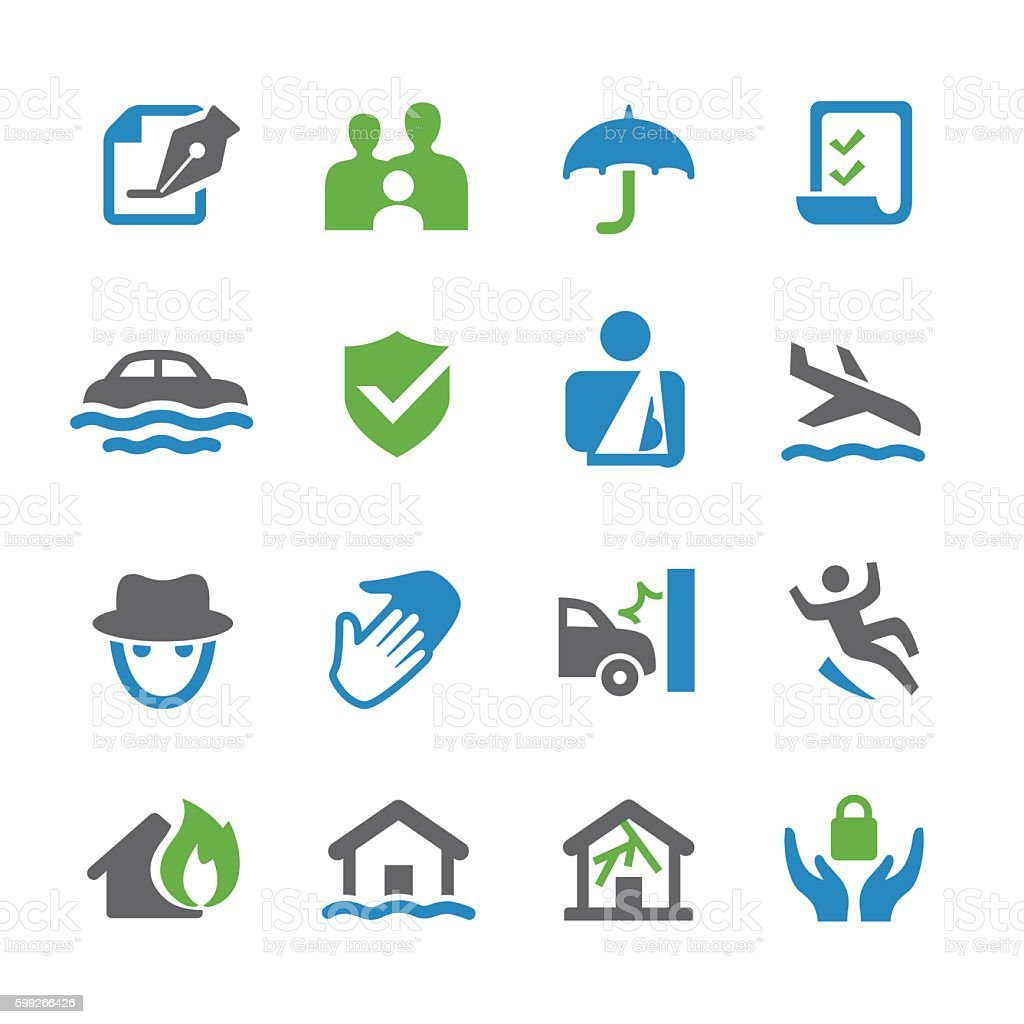 Insurance Icons - Spry Series vector art illustration