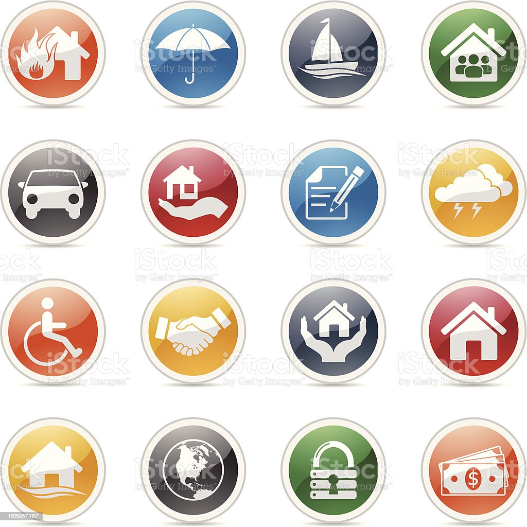Insurance Icons royalty-free insurance icons stock vector art & more images of black color
