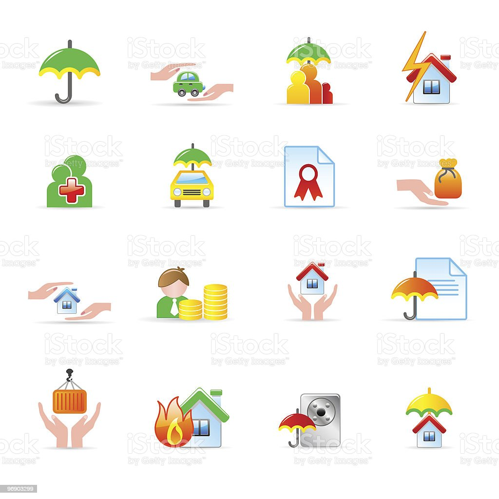 insurance icons royalty-free insurance icons stock vector art & more images of business