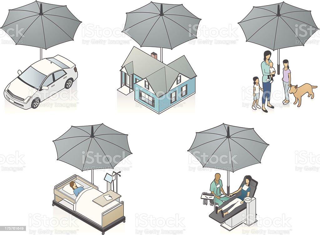 Insurance Illustration royalty-free stock vector art