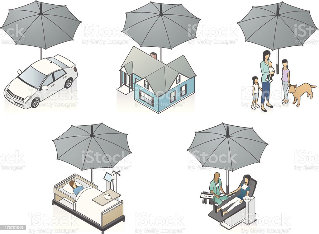 Insurance Illustration vector art illustration