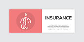 Insurance Line Infographic Web Banner