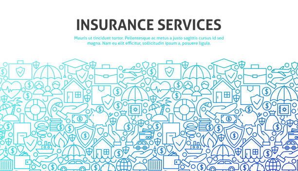 insurance services concept - insurance stock illustrations