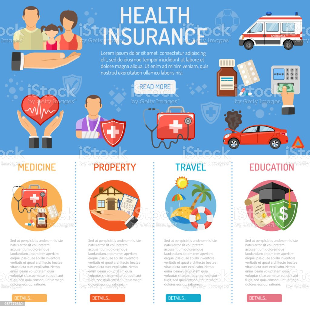 Insurance Services infographics ベクターアートイラスト