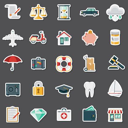 Insurance Sticker Set
