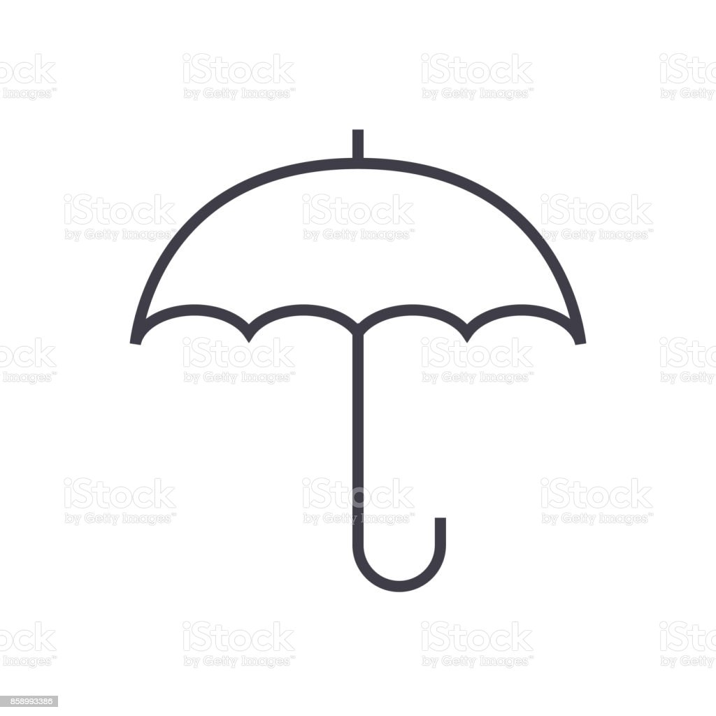 52cd012121e8f insurance, umbrella vector line icon, sign, illustration on background,  editable strokes royalty