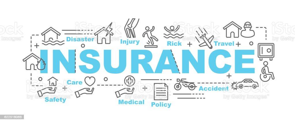 insurance vector banner vector art illustration